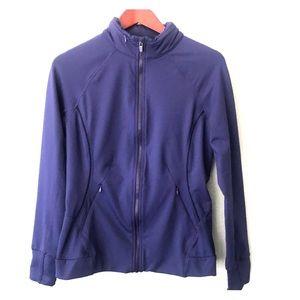 Fabletics navy zip up jacket